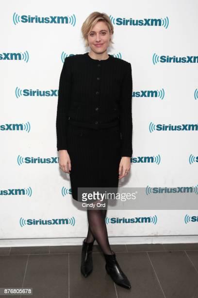 Actress/ director Greta Gerwig visits the SiriusXM Studios on November 20 2017 in New York City