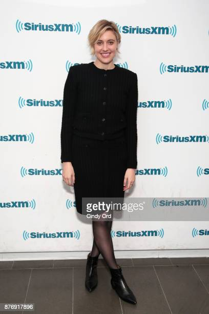 Actress/ director Greta Gerwig visits the SiriusXM Studios on November 20 2017 in New York City