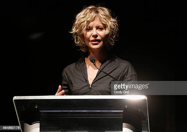 Actress director honoree Meg Ryan speaks during her Lifetime Award Presentation and 'Ithaca' screening during 18th Annual Savannah Film Festival...