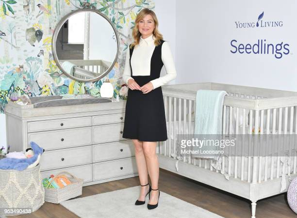Actress director producer and busy mom of three Ellen Pompeo partnered with Young Living Essential Oils to launch its new Seedlings™ line of baby...