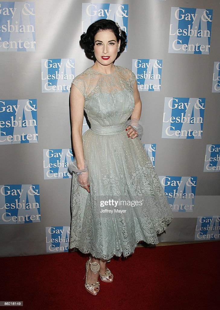 Actress Dita Von Teese arrives at An Evening With Women: Celebrating Art, Music, & Equality at The Beverly Hilton Hotel on April 24, 2009 in Beverly Hills, California.
