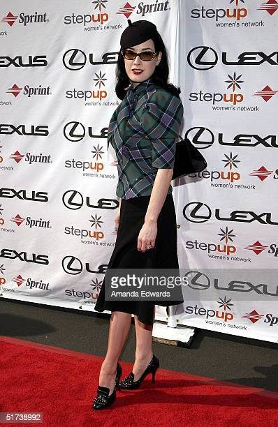 Actress Dita Von Teese arrives at StepUp Women's Network's Fourth Annual Fashion Forward Luncheon on November 13 2004 at Greystone Mansion in Beverly...