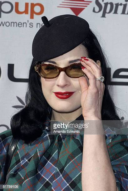 a84731d89120 Actress Dita Von Teese arrives at StepUp Women s Network s Fourth Annual  Fashion Forward Luncheon on November