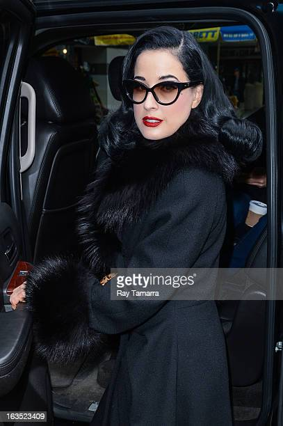 3384b82f62a4 Actress Dita Von Teese leaves the  Big Morning Buzz  taping at the VH1  Studios