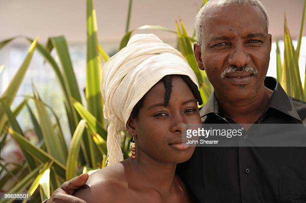 Actress Djeneba Kone and Youssouf Djaoro attends 'A Screaming Man' portrait session at Unifrance during the 63rd Annual Cannes Film Festival on May...