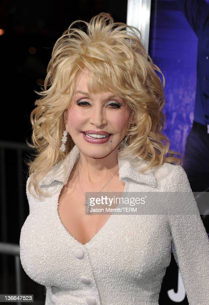 Actress Dolly Parton arrives at the premiere of Warner Bros Pictures' Joyful Noise held at Grauman's Chinese Theatre on January 9 2012 in Hollywood...