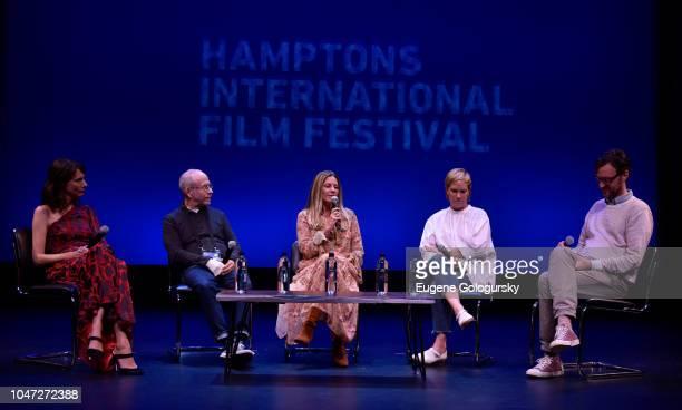 Actress Dolly Wells Executive Producer Bob Balaban Amy Nauiokas producer Anne Carey and Artistic Director to Hamptons International Film Festival...