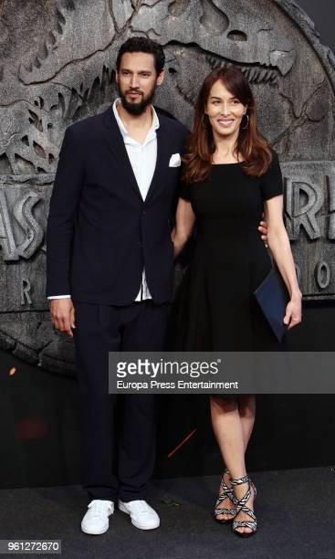 Actress Dolores Chaplin and actor Stany Coppet attend the 'Jurassic World Fallen Kindom' premiere at Wizink Center on May 21 2018 in Madrid Spain