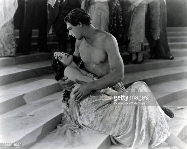 Actress Dolores Costello and George O'Brien in a scene from the movie Noah's Ark