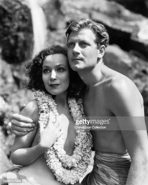 """Actress Dolores Del Rio and Joel McCrea in a scene from the movie """"Bird of Paradise"""""""