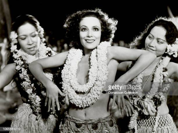Actress Dolores Del Rio in a scene from the movie Bird of Paradise