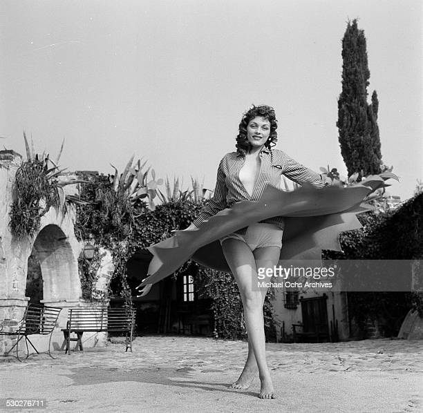 Actress Dolores Reed poses during a portrait session in Los AngelesCA American pinup model