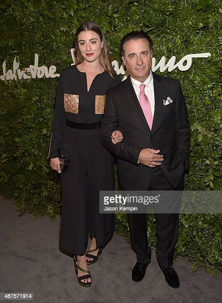 Actress Dominik GarcaLorido and Andy Garcia attend the Salvatore Ferragamo Celebration of 100 Years in Hollywood with the newly unveiled Rodeo Drive...