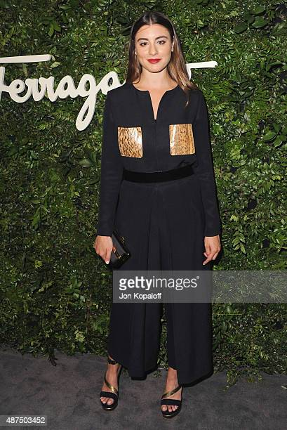 Actress Dominik GarciaLorido arrives at Salvatore Ferragamo 100th Year Celebration In Hollywood Rodeo Drive Flagship Store Opening at Salvatore...