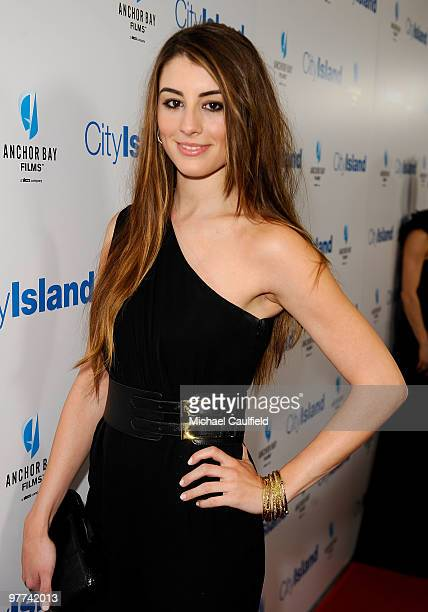Actress Dominik GarciaLorido arrives at the Los Angeles premiere of City Island held at Westside Pavillion Cinemas on March 15 2010 in Los Angeles...