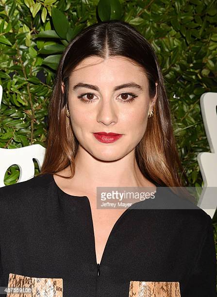 Actress Dominik GarciaLorido arrives at the Salvatore Ferragamo 100 Years In Hollywood celebration at the newly unveiled Rodeo Drive flagship...