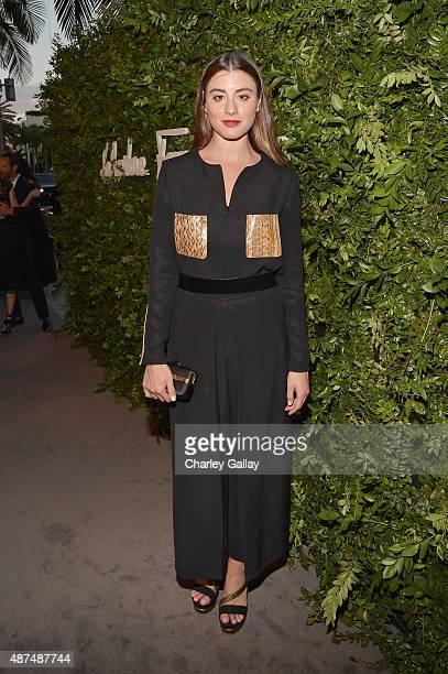 Actress Dominik GarciaLorido attends as Ferragamo Celebrates 100 Years in Hollywood at the newly unveiled Ferragamo boutique on September 9 2015 in...