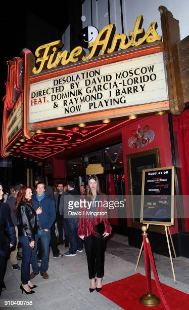 Actress Dominik GarciaLorido attends the premiere of Parade Deck Films' Desolation at Ahrya Fine Arts Theater on January 25 2018 in Beverly Hills...