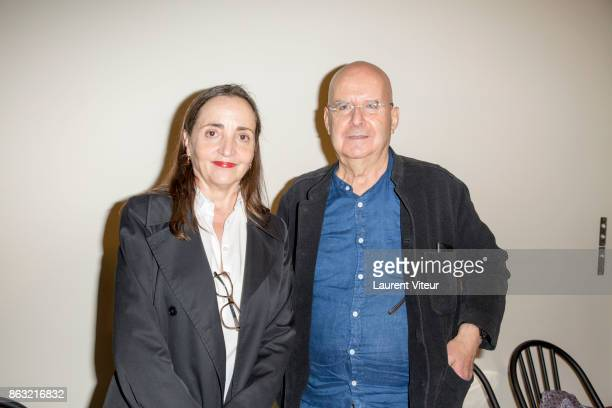 Actress Dominique Blanc and Writer Pierre Guyotat attend 'Tombeau pour Cinq Cent Mille Soldats' the Reading for 50th anniversary of the book at...