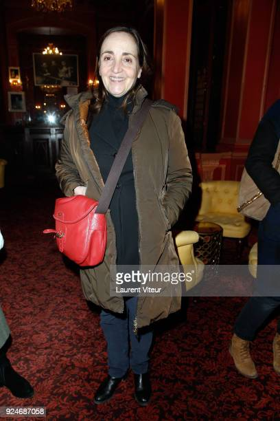 """Actress Dominique Blanc attends """"L'Evenement"""" Theater Play during 'Paroles Citoyennes' 10 shows to wonder about the society at Theatre Antoine on..."""