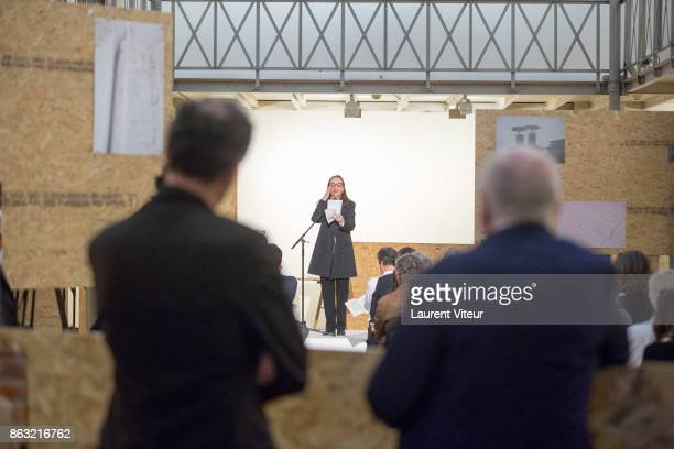Actress Dominique Blanc reading 'Tombeau pour Cinq Cent Mille Soldats' the Reading for 50th anniversary of the book at Azzedine Alaia Gallery on...