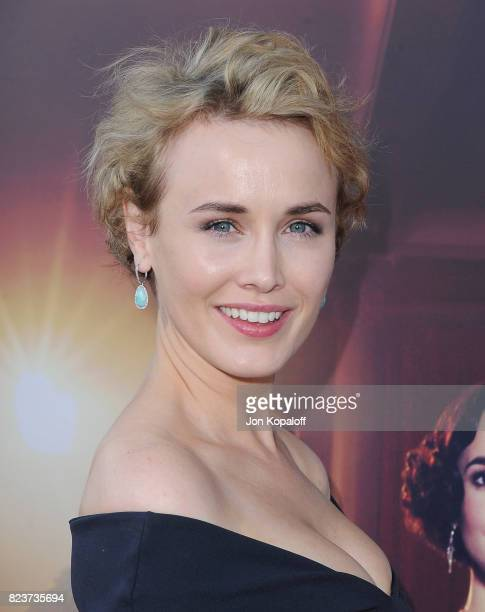 Actress Dominique McElligott arrives at the Premiere Of Amazon Studios' The Last Tycoon at the Harmony Gold Preview House and Theater on July 27 2017...