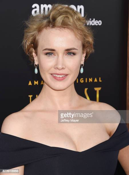 Actress Dominique McElligott arrives at the Premiere Of Amazon Studios' 'The Last Tycoon' at the Harmony Gold Preview House and Theater on July 27...