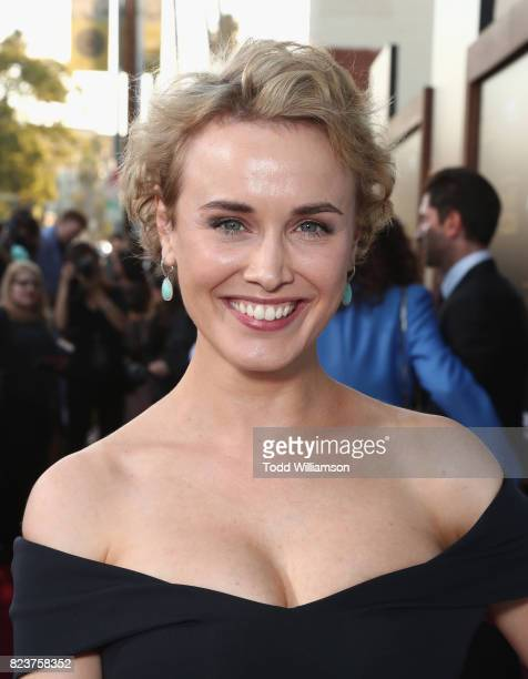 Actress Dominique McElligott at the Amazon Prime Video premiere of the original drama series The Last Tycoon at Harmony Gold Theatre on July 27 2017...