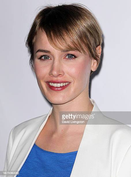 Actress Dominique McElligott attends the 8th Annual Oscar Wilde Honoring The Irish In Film PreAcademy Awards Event at Bad Robot on February 21 2013...