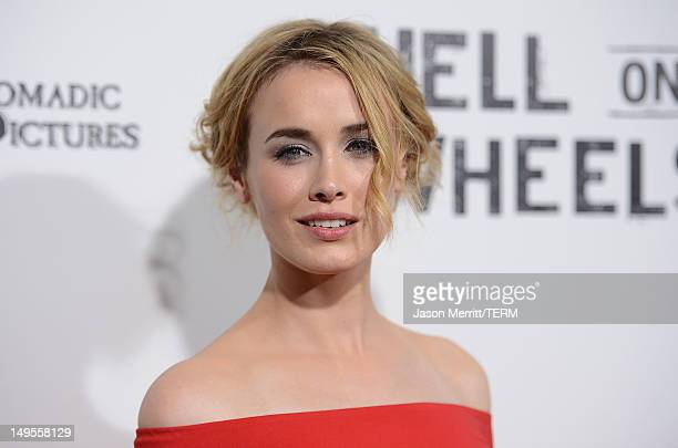 Actress Dominique McElligott attends the screening of AMC's Hell On Wheels 2nd Season held at The Paley Center for Media on July 30 2012 in Beverly...