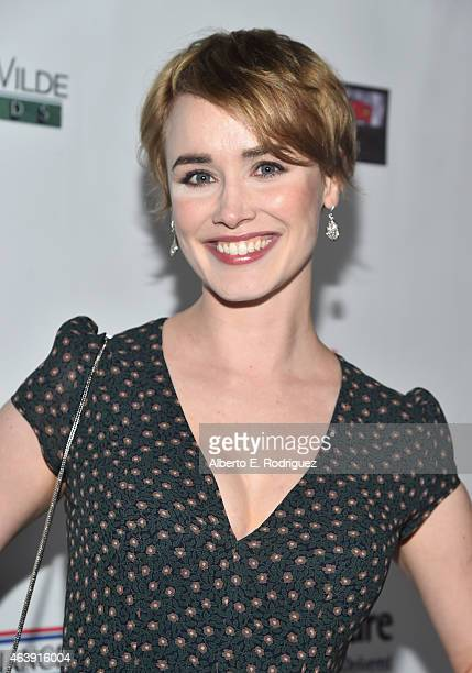 Actress Dominique McElligott attends the USIreland Aliiance's Oscar Wilde Awards event at JJ Abrams' Bad Robot on February 19 2015 in Santa Monica...