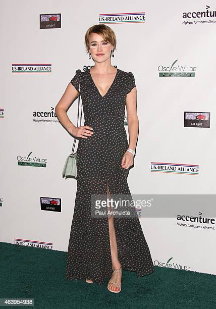 Actress Dominique McElligott attends the USIreland Alliance PreAcademy Awards Honors event at Bad Robot on February 19 2015 in Santa Monica California