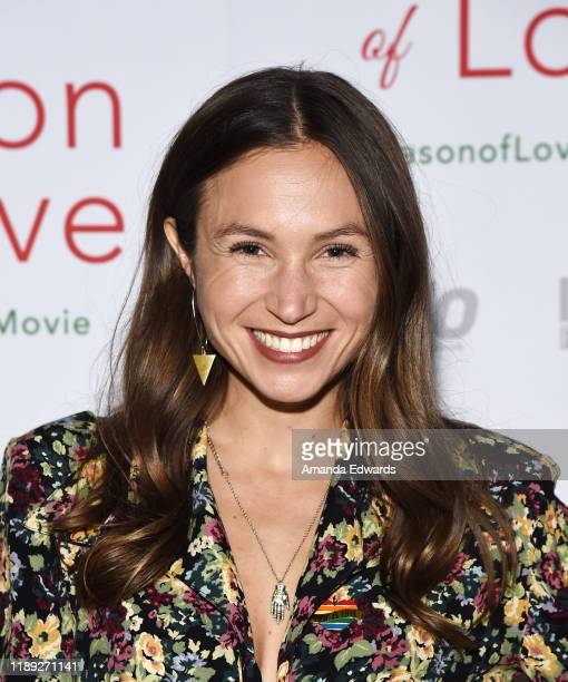 Actress Dominique ProvostChalkley arrives at the premiere of Season Of Love at the Landmark Theater on November 21 2019 in Los Angeles California