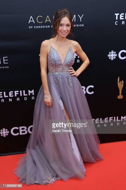 Actress Dominique ProvostChalkley attends the 2019 Canadian Screen Awards Broadcast Gala at Sony Centre for the Performing Arts on March 31 2019 in...
