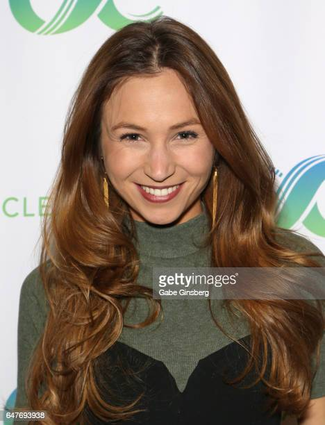 Actress Dominique ProvostChalkley attends the ClexaCon 2017 convention at Bally's Las Vegas on March 3 2017 in Las Vegas Nevada