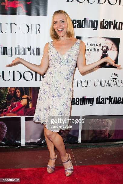 Actress Dominique Swain arrives at the Los Angeles special screening of 'Spreading Darkness' at the Westwood Crest Theatre on September 12 2014 in...