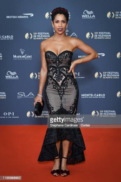 Actress Dominique Tipper attends the opening ceremony of the 59th Monte Carlo TV Festival on June 14, 2019 in Monte-Carlo, Monaco.