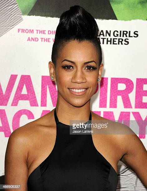 Actress Dominique Tipper attends the premiere of 'Vampire Academy' at Regal Cinemas LA Live on February 4 2014 in Los Angeles California