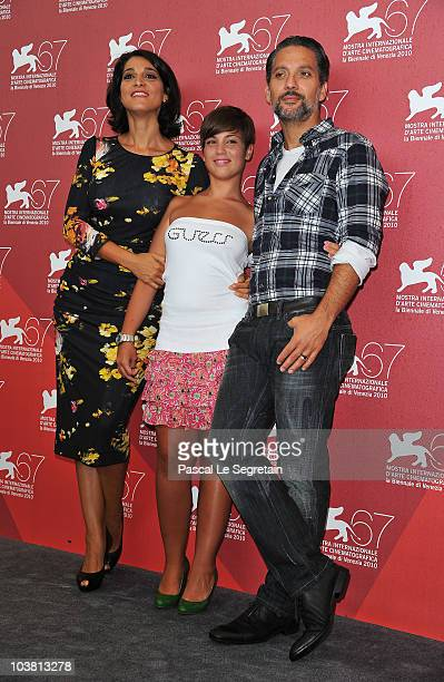 Actress Donatella Finocchiaro actress Carla Marchese and actor Giuseppe Fiorello attend the Niente Orchidee and I Baci Mai Dati photocall during the...