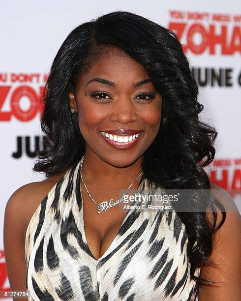Actress Donielle Artese arrives at the premiere of Sony Pictures 'You Don't Mess With The Zohan' held at Grauman's Chinese Theater on May 28 2008 in...