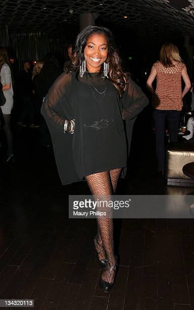Actress Donielle Artese attends The GRAMMY Nominations Concert Live after party held at Club Nokia on November 30 2011 in Los Angeles California