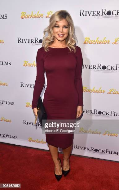 Actress Donna D'Errico attends the premiere of RiverRock Films' Bachelor Lions at The ArcLight Hollywood on January 9 2018 in Hollywood California