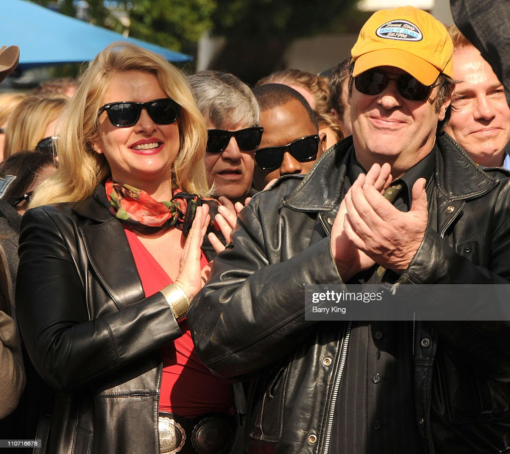 Actress Donna Dixon and actor Dan Akroyd attend Roy Orbison's induction into the Hollywood Walk Of Fame on January 29, 2010 in Hollywood, California.