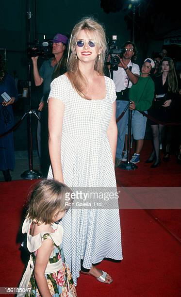 Actress Donna Dixon and daughter Danielle Aykroyd attend the premiere of 'Coneheads' on July 19 1993 at Mann Chinese Theater in Hollywood California