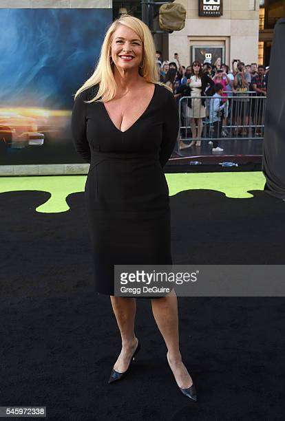 """Actress Donna Dixon arrives at the premiere of Sony Pictures' """"Ghostbusters"""" at TCL Chinese Theatre on July 9, 2016 in Hollywood, California."""