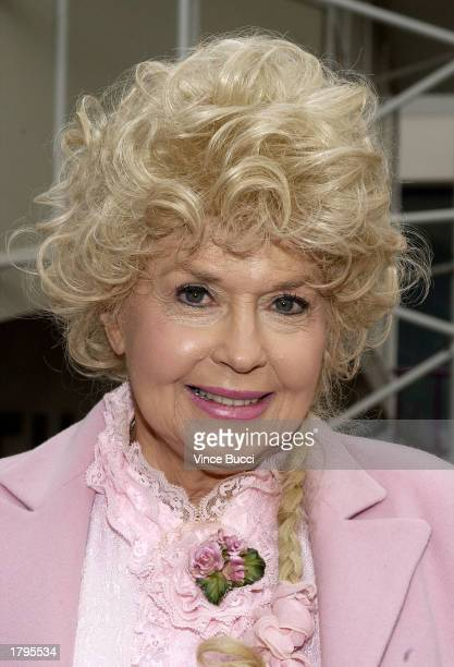 Actress Donna Douglas attends the ceremony honoring legendary banjo player Earl Scruggs with a star on the Hollywood Walk of Fame on February 13 2003...
