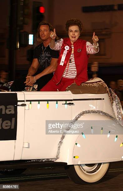 Actress Donna Martell participates in the 76th annual Hollywood Santa Parade on November 30 2008 in Hollywood California