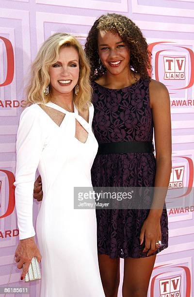 Actress Donna Mills and daughter Chloe arrive at the 2009 TV Land Awards at the Gibson Amphitheatre on April 19 2009 in Universal City California