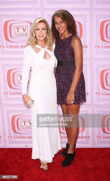Actress Donna Mills and daughter Chloe Mills arrives at the 7th Annual TV Land Awards held at Gibson Amphitheatre on April 19, 2009 in Universal...