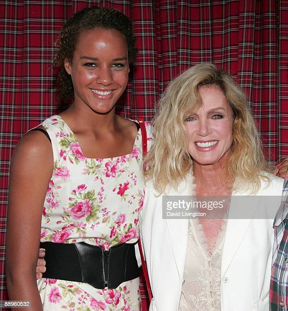 Actress Donna Mills and daughter Chloe Mills attend the Forever Plaid 20th Anniversary Special at Club Nokia on July 9 2009 in Los Angeles California